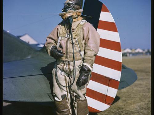 Rudy Arnold Photograph of Lt. Gilbert L. Meyers in Flight Gear
