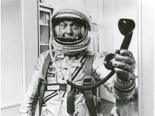 Alan Shepard with Telephone