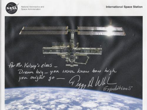 Note from Astronaut Peggy Whitson