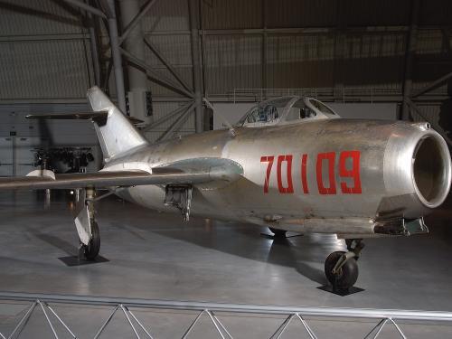 """Mikoyan-Gurevich MiG-15bis """"Fagot B"""" at the Udvar-Hazy Center"""