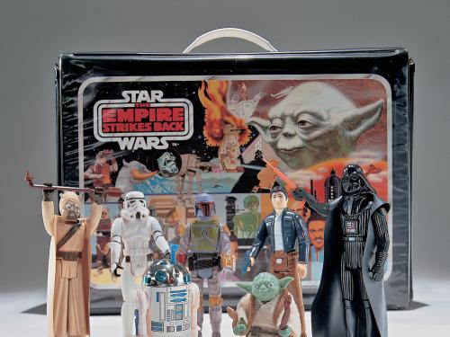 A set of Star Wars toys manufactured for the release of The Empire Strikes Back, 1980.