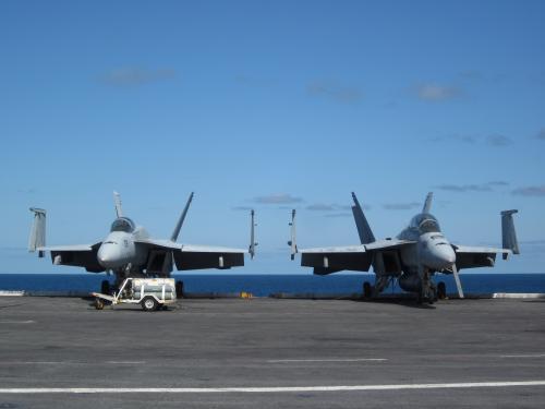 The USS Dwight D. Eisenhower aircraft carrier.