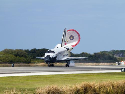 Space Shuttle Discovery Lands after its Final Flight