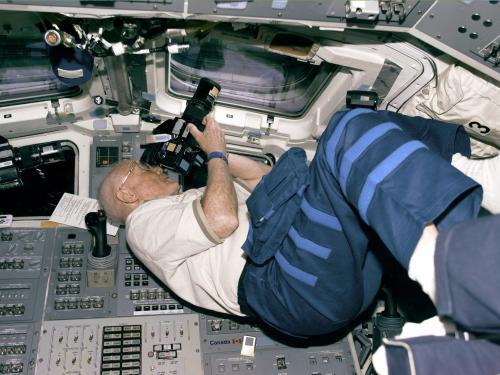 Glenn Photographs from Flight Deck