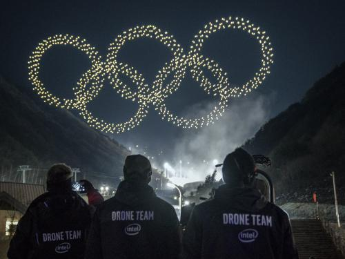 The 2018 Winter Olympics drone show
