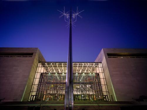 Exterior view of the Smithsonian's National Air and Space Museum in Washington, DC