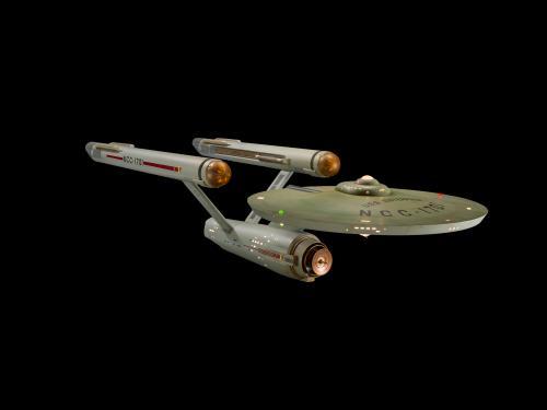 Studio Model of Star Trek Starship Enterprise