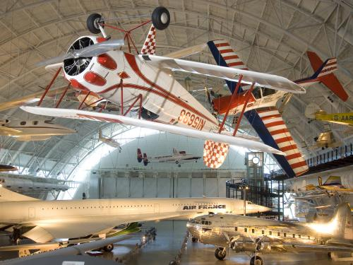 The Bucker Bu-133C Jungmeister at the Udvar-Hazy Center