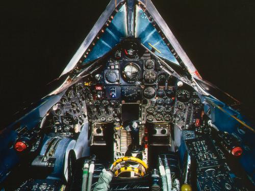 Cockpit of the Lockheed SR-71A Blackbird at the Udvar-Hazy Center