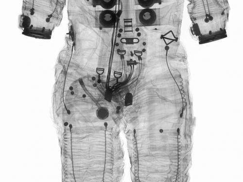 X-ray image of Alan Shepard's Apollo 14 Spacesuit