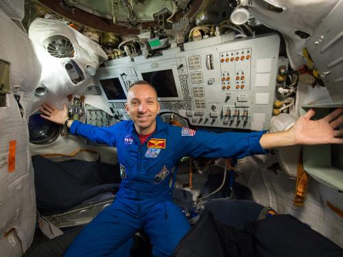 Astronaut Randy Bresnik Aboard the ISS