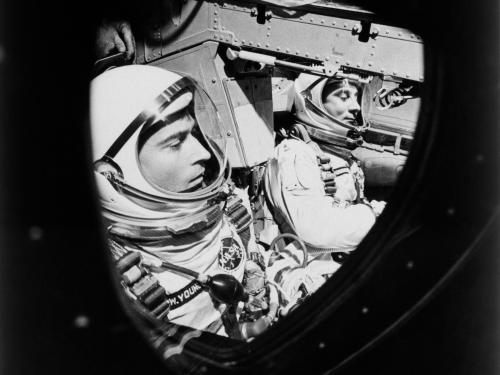 John Young and Gus Grissom