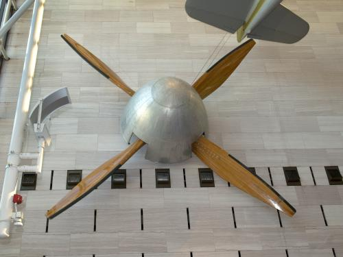 The Full Scale Wind Tunnel Fan Featured a Metal Spinner