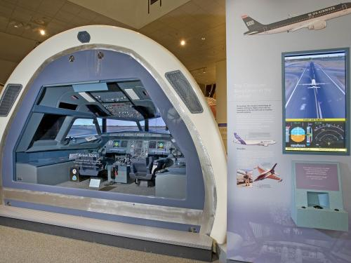 Airbus A320 Simulated Cockpit in America by Air