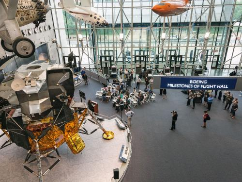 Image of the Lunar Module from the second floor.