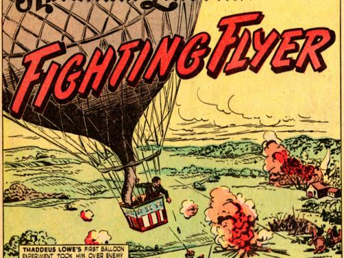 First Panel of Lincoln Flying Fighter Comic Strip