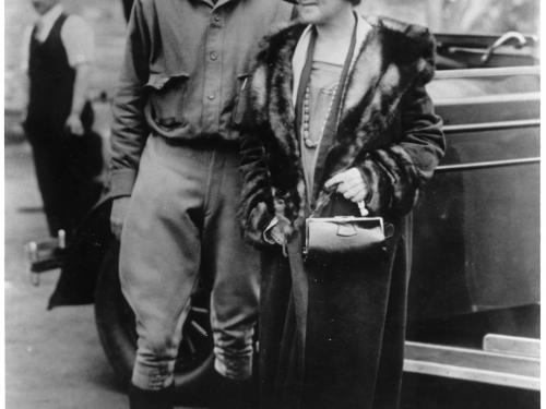 Lindbergh Poses with Mother