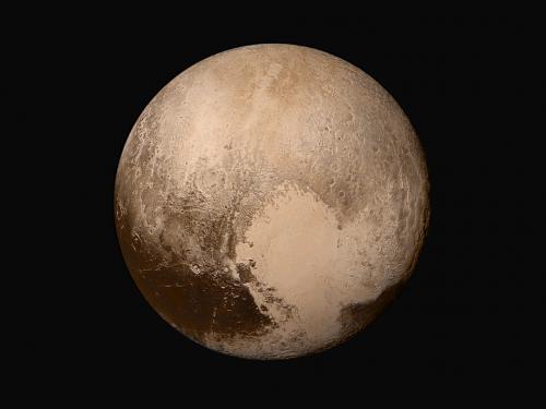 Pluto in True Color