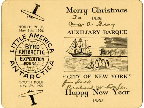 Card from the Byrd Expedition