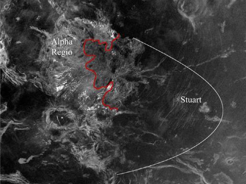 Venus Impact Crater Ejecta