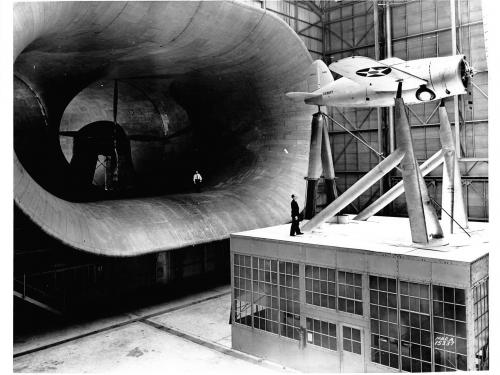XF2A-1 in the Full Scale Wind Tunnel