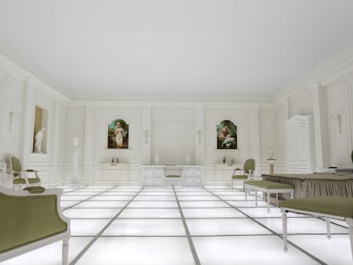 Recreation of the room from 2001: A Space Odyssey