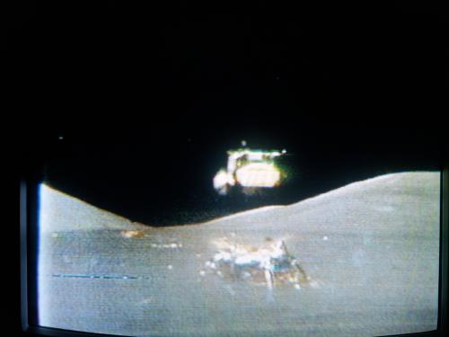 Apollo 17 lifts off from the Moon