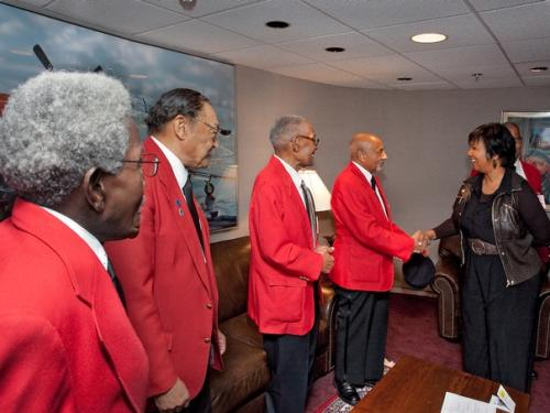 Tuskegee Airmen with Mae Jemison