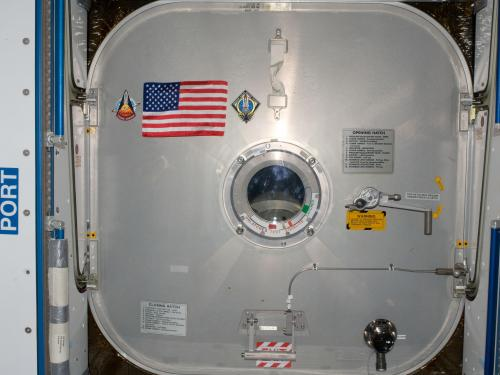 American Flag Left on ISS by STS-135