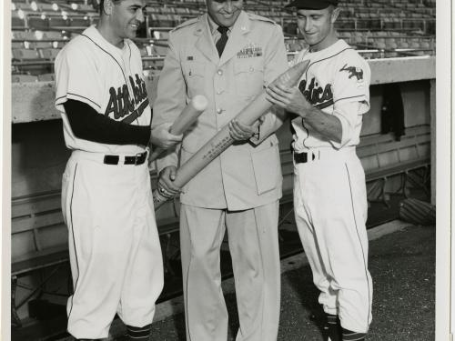 Kansas City Athletics' Manager, Lou Boudreau