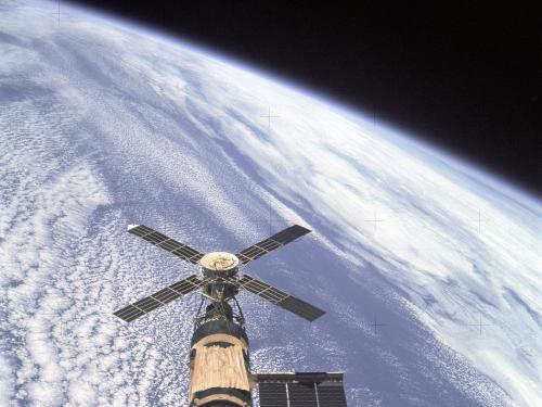 Skylab Orbital Workshop in Orbit