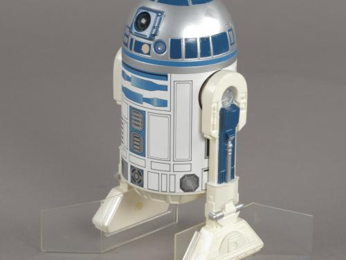 An R2-D2 action figure issued for The Empire Strikes Back.
