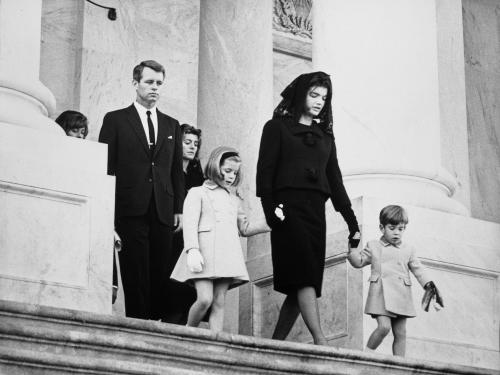 Kennedy Family Leaving Funeral Ceremony for President John F. Kennedy
