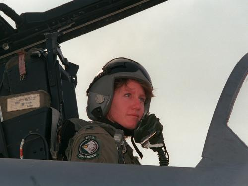 Jeannie Leavitt, First USAF Female Fighter Pilot