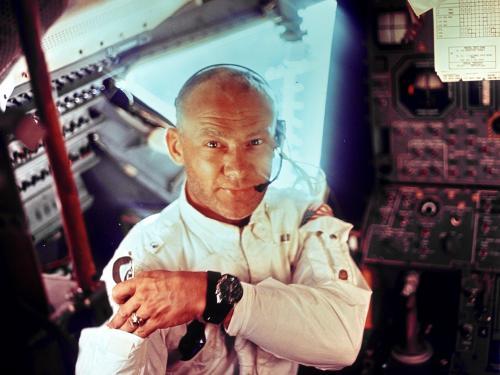 Apollo 11 Edwin E. (Buzz) Aldrin and Lunar Module Interior