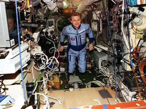 Inside the Mir Space Station