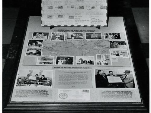 1949 Around the World Air Mail Envelope Exhibit
