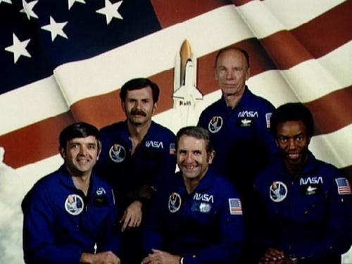 Official STS-8 crew portrait