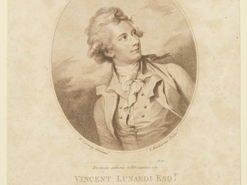 Vincenzo Lunardi Engraving