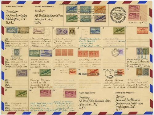 Air Force Association Wright Brothers 46th Anniversary Air Mail Envelope, 1949