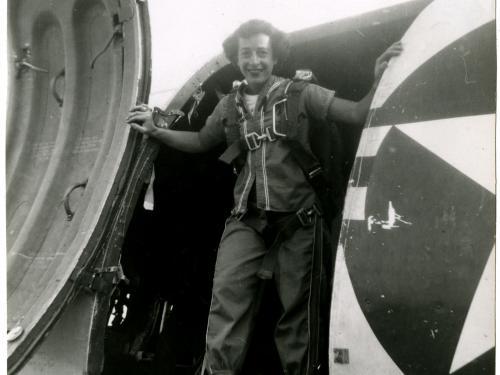 Helen G. James Inside a Douglas C-47 Skytrain