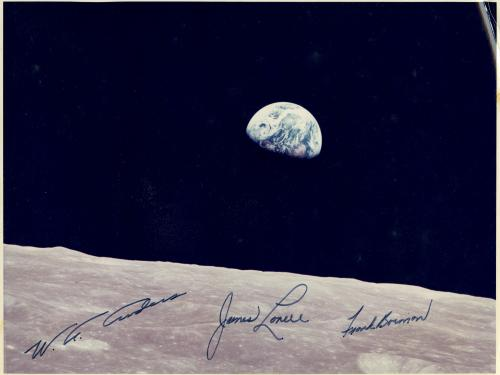 Earthrise, Autographed by Apollo 8 Astronauts
