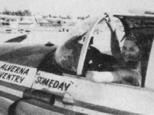 Alverna Williams in Ercoupe Cockpit