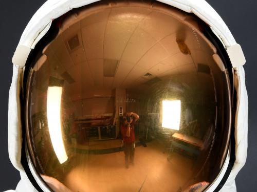 Photographing Neil Armstrong's Helmet