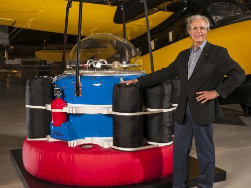Julian Nott with ICI Innovation Balloon Gondola