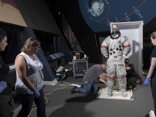 Gene Cernan's Apollo 17 Spacesuit Move