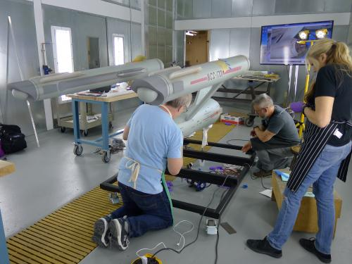 Conservation Work on Star Trek Enterprise Studio Model