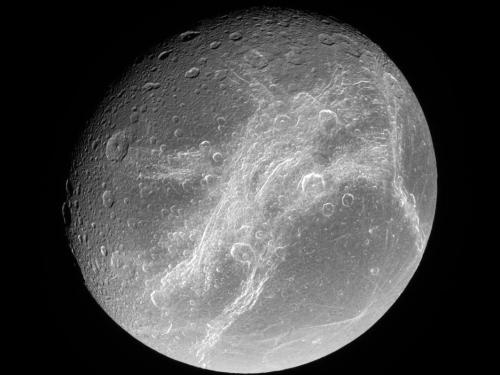 Discovering Mysterious Features On Saturn's moon Dione
