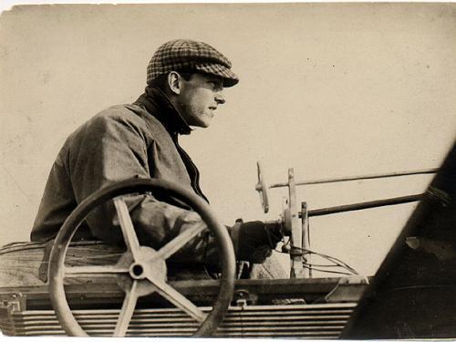 """Hubert Latham in His """"Antoinette IV"""""""