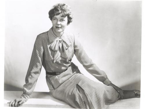 Amelia Earhart Models Fashion Line
